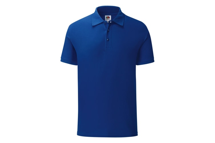 Fruit Of The Loom Mens Iconic Pique Polo Shirt (Cobalt Blue) (S)