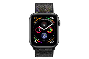 Apple Watch Series 4 40mm GPS Space Grey Aluminium Case with Black Sport Loop