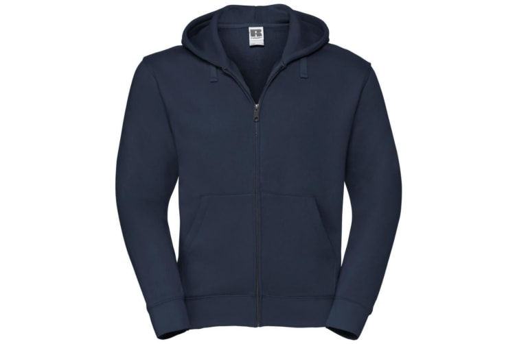 Russell Mens Authentic Full Zip Hooded Sweatshirt / Hoodie (French Navy) (XS)