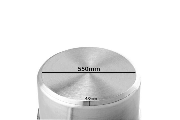 SOGA Stock Pot 130L Top Grade Thick Stainless Steel Stockpot 18/10 Without Lid