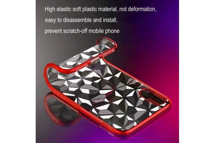 Diamond Texture Electroplating TPU Case For iPhone XR 6.1 inch Blue