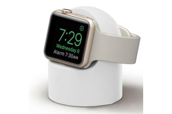 Charger Dock Stand Magnetic Wireless Holder For Apple Watch iWatch Series 3 4 5-White
