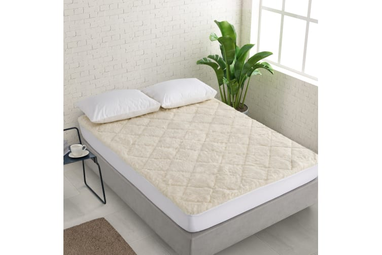 Natural Home All Season Wool Reversible Underlay Double Bed