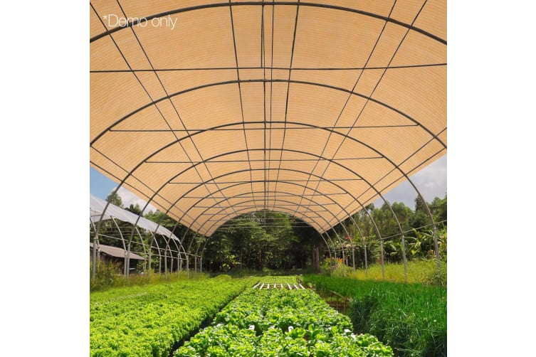Instahut 50% Sun Shade Cloth Cloths 100GSM Sail Roll Mesh Outdoor Beige 1.83m x 10m Summer UV Protection