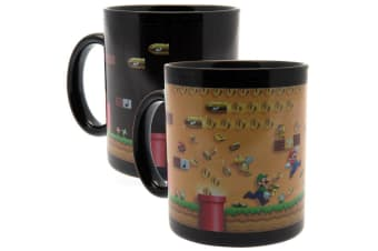 Super Mario Official Heat Changing Mug (Black/Yellow)