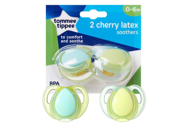 Tommee Tippee Closer to Nature  Cherry Latex Soother 2 Pack - Neutral- 0 to 6 months
