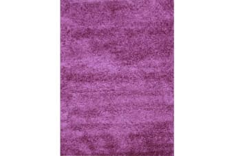 Funky Urban Shag Runner Rug - Purple