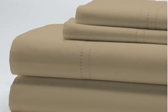 Style & Co 1000TC Egyptian Cotton Essex Bed Sheet Set (Stone)