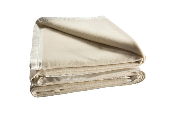 Bianca 480GSM Wool Blanket (Double/Cream)