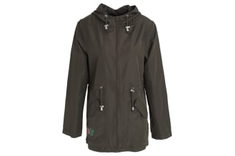 Brave Soul Womens/Ladies Cinta Full Zip Hooded Jacket (Khaki)