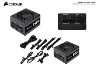 Corsair 650W RM 80+ Gold Fully Modular 135mm FAN ATX PSU 10 Years Warranty