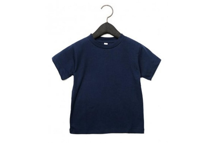 Bella + Canvas Youths Crew Neck T-Shirt (Navy) (L)