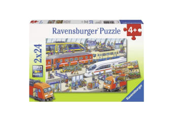 Ravensburger Busy Train Station Kids Puzzle - 2 x 24 Piece