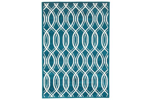 Indoor Outdoor Lucid Rug Peacock Blue 330x240cm