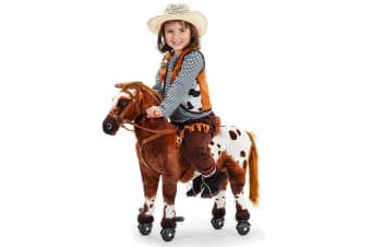 ROVO KIDS Premium Ride-On Pony on Wheels Cycle - Horse Sounds Rocking Toy Cute