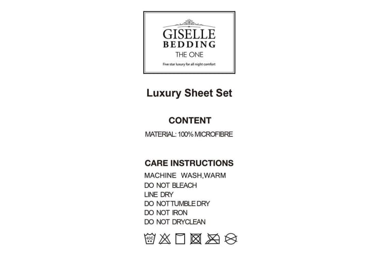 Giselle Bed Sheets Queen Cover Fitted Sheet Set Covers Microfiber Pillowcases