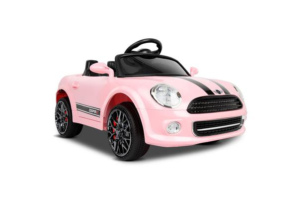 Mini Cooper Inspired Kids Ride On Car (Pink)