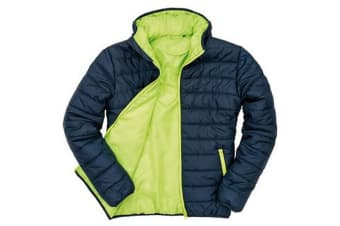 Result Core Mens Soft Padded Jacket (Navy/Lime) (2XL UK)