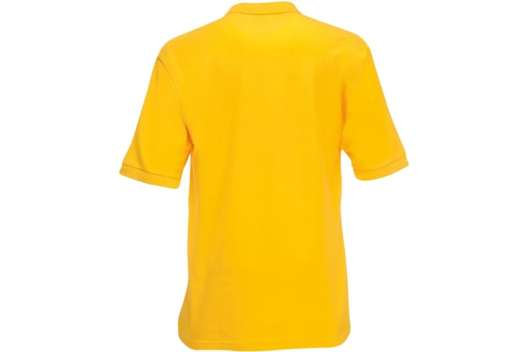 Fruit Of The Loom Mens 65/35 Pique Short Sleeve Polo Shirt (Sunflower) (2XL)