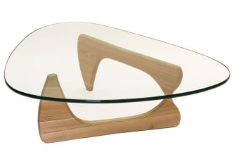 Replica Isamu Noguchi Glass Coffee Table | Natural