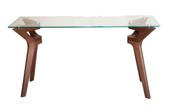 Murf Collection | Glass Console Table | Walnut
