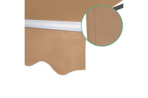 Instahut 4M x 3M Outdoor Folding Arm Awning (Beige)