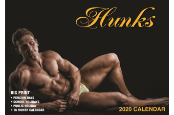 Hunks - 2020 Rectangle Wall Calendar Sexy Men Muscles Model by Bartel (C)