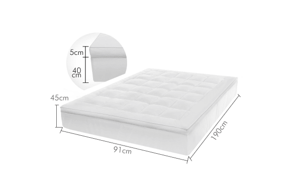 King Size Pillowtop Mattress Topper Protector Underlay Pad 1000gsm Healthy Bamboo Fibre 5cm Thick