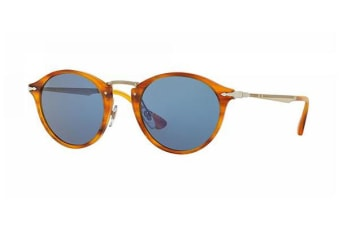 Persol PO3166S - Striped Brown (Light Blue lens) / 51--22--145 Unisex Sunglasses