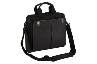 "Targus 15.6"" Topload Notebook Bag Classic+ Black Poly"