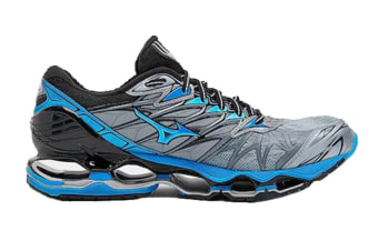 Mizuno Men's WAVE PROPHECY 7 Running Shoe (Tradewinds/Diva Blue/Black)