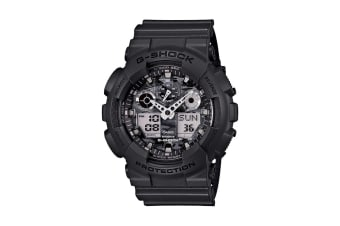 Casio G-Shock Analog Digital GA-100 Watch with Resin Band - Black (GA100CF-8A)
