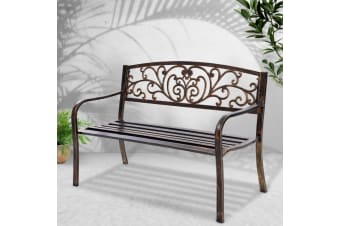 Garden Bench Seat Steel Outdoor Patio Park Lounge Backyard Chair