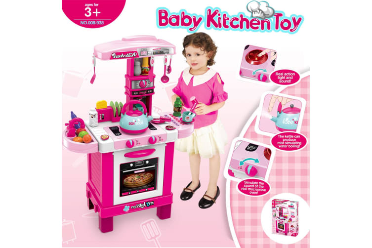 31 Pcs Kids Kitchen Pretend Play Set Children Cooking Toys Toddler Gift