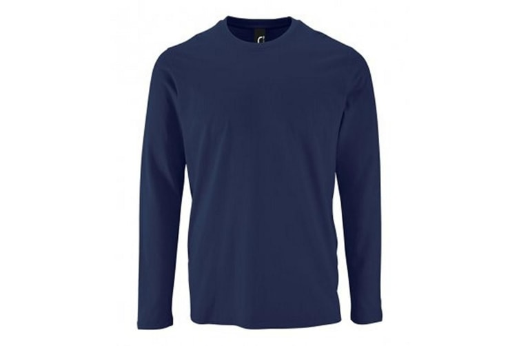 SOLS Mens Imperial Long Sleeve T-Shirt (French Navy) (S)