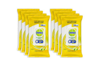 960pc Dettol Multipurpose Cleaning Kitchen Disposable Wet Wipes Lemon Lime Burst