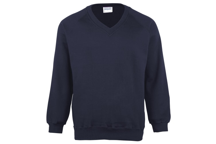 Maddins Mens Coloursure V-Neck Sweatshirt (Navy) (L)