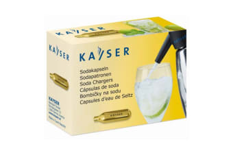 10pc Kayser Soda Syphon Siphon Chargers Carbon Dioxide CO2 Sparkling Water Bulbs