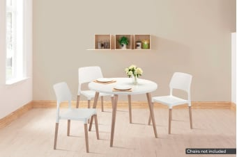 Shangri-La Dining Table - Nyhavn Collection (White & Oak)
