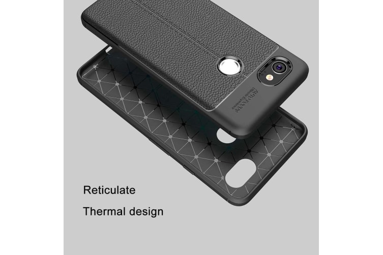 finest selection 8c7b6 0ff27 For Google Pixel 2 XL Case Elegant Lychee High-Quality Protective Cover  Black