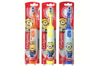 3x Colgate Kids Battery Powered Toothbrush Extra Soft Bristle Minion Assorted 3y