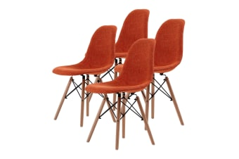 Replica Eames DSW Dining Chair - ORANGE X4