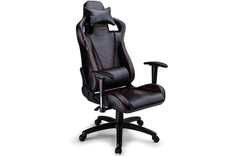 Overdrive Gaming Chair Office Computer Racing PU Leather Executive Black Race