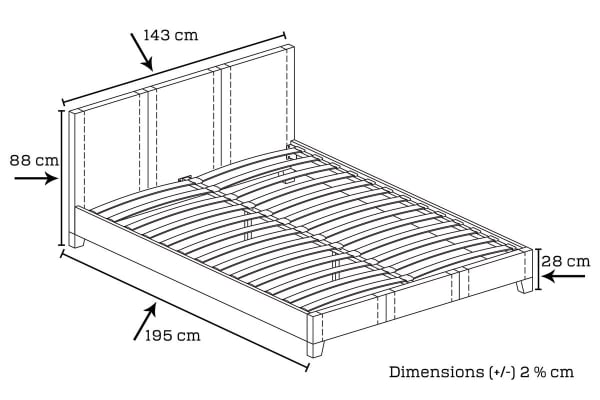 Mondeo Bed Frame (Double/Brown)