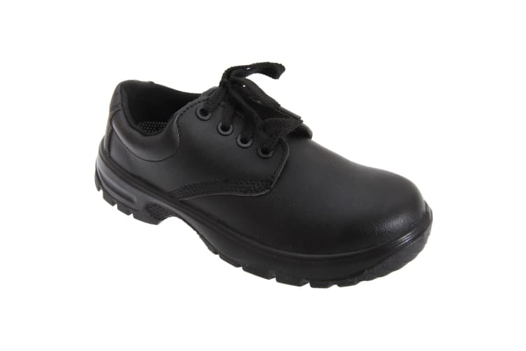 Dennys Comfort Grip Lace Up Safety Shoes (Black) (46)