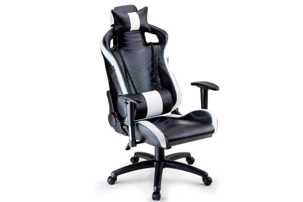 Overdrive Gaming Chair - Office Computer Racing PU Leather Executive Race Black