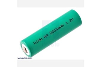 Rechargeable NiMH AA Battery: 1.2 V, 2200 mAh, 1 cell