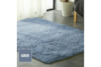 New Designer Shag Shaggy Floor Confetti Rug Carpet 120x160cm Ultra Soft Grey AU