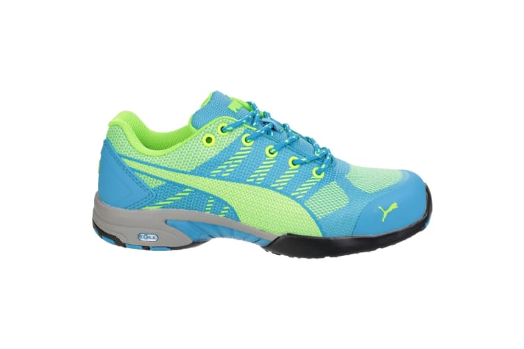 Puma Safety Womens/Ladies Celerity Knit Lace Up Safety Trainers (Blue) (2 UK)