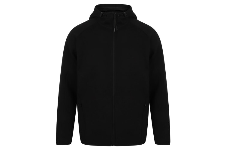 Tombo Mens Performance Zip Hoodie (Black) (XL)